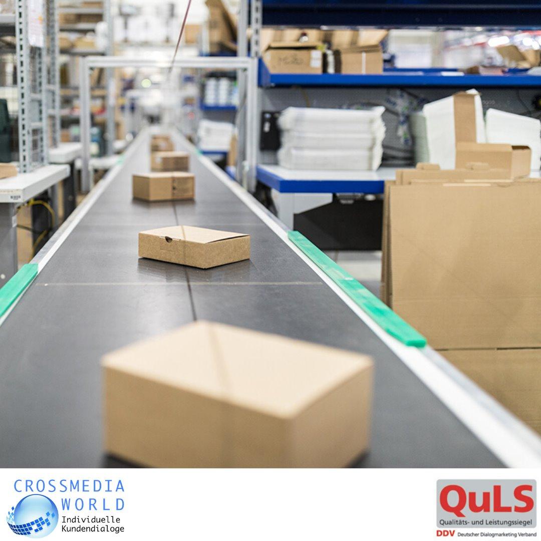 Fullfillment Verpackung und Versand mit Crossmediaworld, Stuttgart