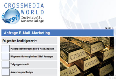 Anfrage E-Mail Marketing