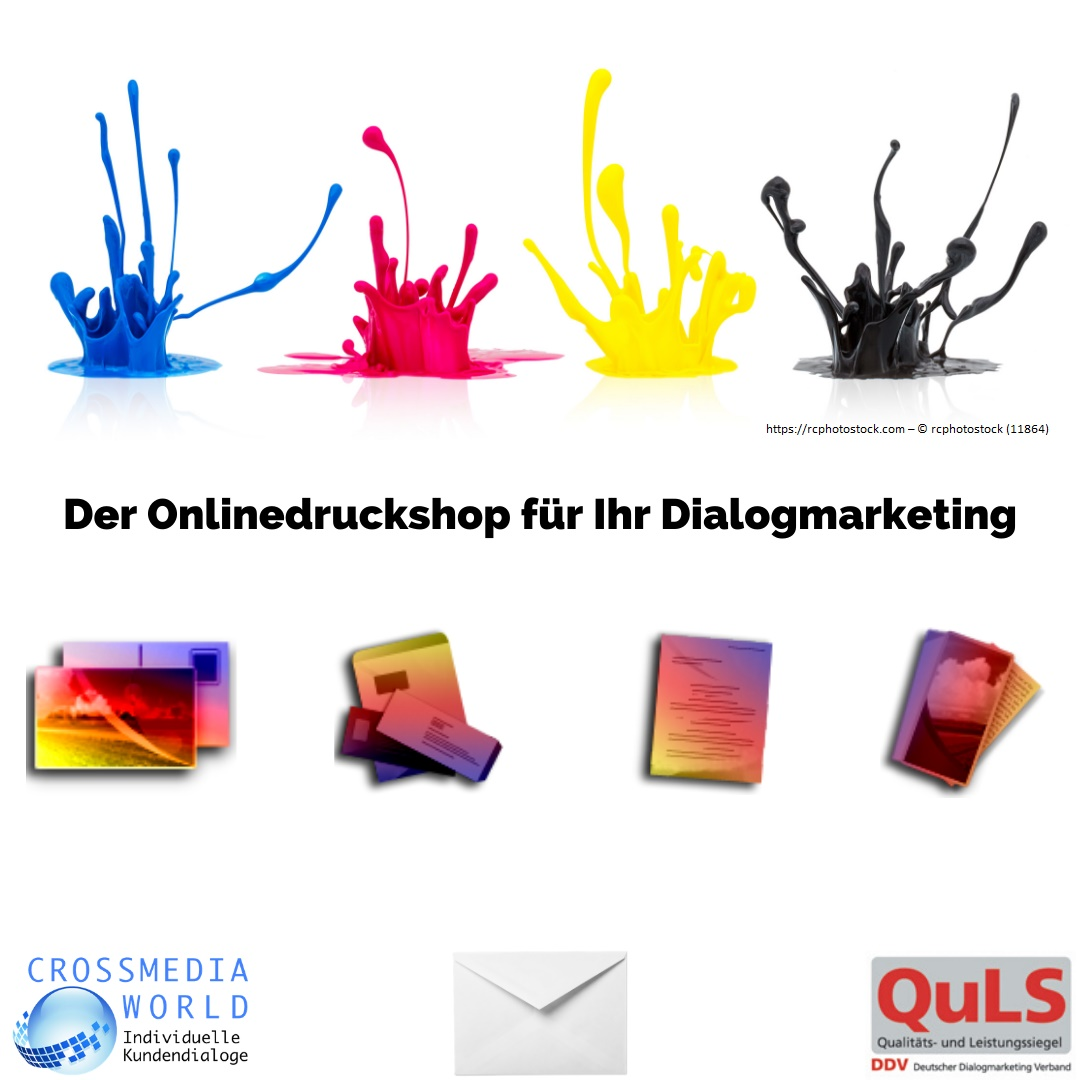 Onlinedruckshop für Dialogmarketing - Crossmediaworld, Stuttgart