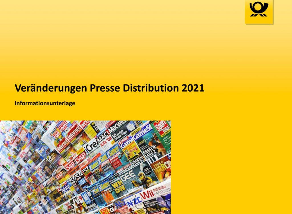 Veränderung Presse Distribution 2021