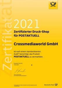Postaktuell Zertifikat Crossmediaworld