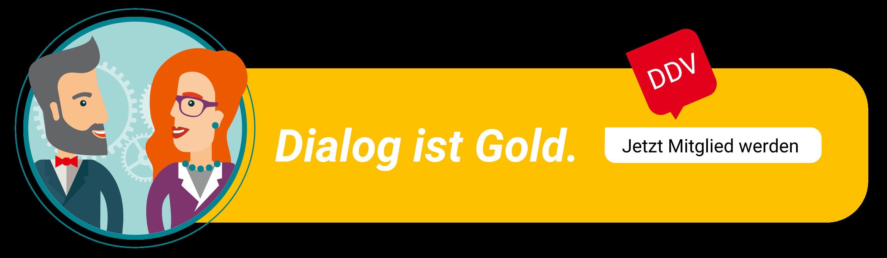 DDV Mitglied werden - Dialog ist Gold max