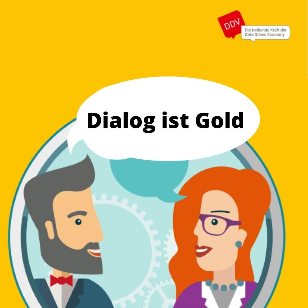 DDV Mitglied werden - Dialog ist Gold